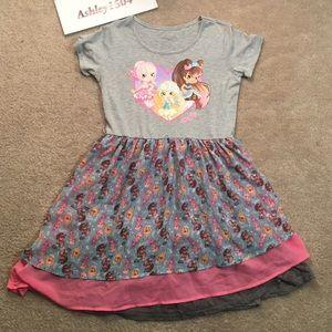 Other - Shopkins Dress Cute Pink Grey Blue girls XL
